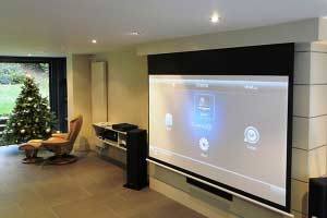 projector tv installation